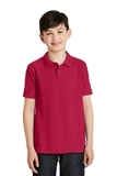 Youth Silk Touch Polo Shirt Red Thumbnail