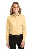 Women's Long Sleeve Easy Care Shirt Yellow Thumbnail