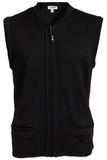 Two Pocket Zipper Vest Black Thumbnail