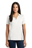 Women's Contrast Tough Polo White with Heather Grey Thumbnail