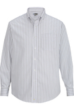 Edwards Men's Double Stripe Dress Poplin Shirt Lavender Thumbnail
