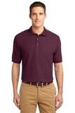 Tall Sized Silk Touch Polo Shirt Maroon Thumbnail