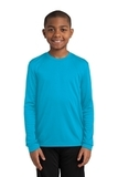 Youth Long Sleeve Competitor Tee Atomic Blue Thumbnail