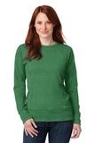 Women's French Terry Crewneck Sweatshirt Heather Green Thumbnail