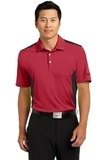Nike Golf Dri-fit Engineered Mesh Polo Gym Red with Black Thumbnail