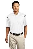 Nike Golf Dri-FIT Shoulder Stripe Polo Shirt White with Black Thumbnail