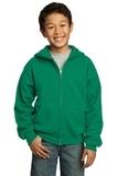 Youth Full-zip Hooded Sweatshirt Kelly Thumbnail