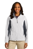 Women's Corevalue Colorblock Soft Shell Jacket Marshmallow with Battleship Grey Thumbnail