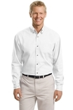 Tall Long Sleeve Twill Shirt White Thumbnail