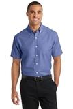 Short Sleeve Superpro Oxford Shirt Navy Thumbnail