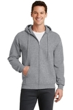 7.8-oz Full-zip Hooded Sweatshirt Athletic Heather Thumbnail