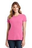Women's Port & Company Fan Favorite Tee New Pink Thumbnail