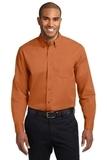 Long Sleeve Easy Care Shirt Texas Orange with Light Stone Thumbnail