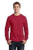 Long Sleeve 5.4-oz. 100 Cotton T-shirt Red Thumbnail