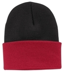 Knit Cap Black with Athletic Red Thumbnail