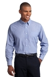 Tall Crosshatch Easy Care Shirt Chambray Blue Thumbnail