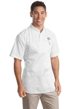 Medium Length Apron With Pouch Pockets White Thumbnail