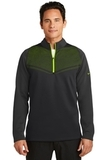 Nike Golf Therma-FIT Hypervis 1/2-Zip Cover-Up Black with Volt Thumbnail