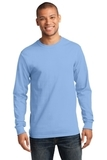 Essential Long Sleeve T-shirt Light Blue Thumbnail