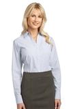 Women's Plaid Pattern Easy Care Shirt White Thumbnail