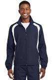 Colorblock Raglan Jacket True Navy with White Thumbnail