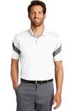 Nike Golf Dri-FIT Commander Polo White with Black Thumbnail