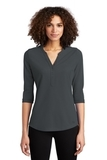 Women's OGIO Jewel Henley Diesel Grey Thumbnail
