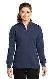 Women's 1/4-zip Sweatshirt True Navy Thumbnail