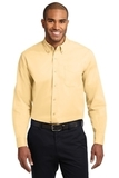 Tall Long Sleeve Easy Care Shirt Yellow Thumbnail