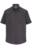 Men's Easy Care Poplin Shirt SS Steel Grey Thumbnail