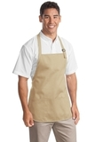 Medium Length Apron With Pouch Pockets Stone Thumbnail
