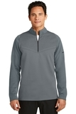 Nike Golf Therma-FIT Hypervis 1/2-Zip Cover-Up Dark Grey with Black Thumbnail
