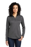 Women's Silk Touch Performance 1/4-Zip Steel Grey with Black Thumbnail
