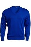 Men's 100 Acrylic V-neck Sweater Royal Thumbnail