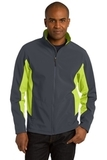 Corevalue Colorblock Soft Shell Jacket Battleship Grey with Charge Green Thumbnail