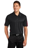 Active Textured Colorblock Polo Black with True Red Thumbnail