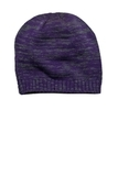 District Spaced-dyed Beanie Purple with Charcoal Thumbnail