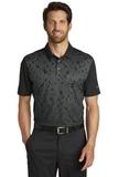 Nike Golf Dri-FIT Mobility Camo Polo Black with Dark Grey Thumbnail