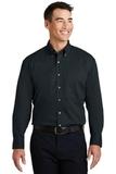 Long Sleeve Twill Shirt Classic Navy Thumbnail