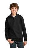 Youth 1/4-zip Cadet Collar Sweatshirt Black Thumbnail