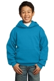 Youth Pullover Hooded Sweatshirt Neon Blue Thumbnail