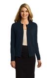 Women's Button Front Cardigan Navy Thumbnail