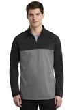 Nike Golf Therma-FIT 1/2-Zip Fleece Black with Dark Grey Heather Thumbnail