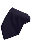 Men's Solid Color Tie Navy Thumbnail