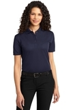 Women's Dry Zone Ottoman Polo Shirt Navy Thumbnail