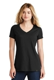 Women's New Era Heritage Blend VNeck Tee Black Thumbnail