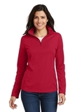 Women's Pinpoint Mesh 1/2Zip Rich Red Thumbnail