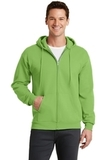 7.8-oz Full-zip Hooded Sweatshirt Lime Thumbnail