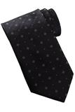 Men's Dot And Diamond Pattern Tie Black Thumbnail