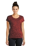 Women's Electric Heather Sporty Tee Deep Red Black Electric Thumbnail